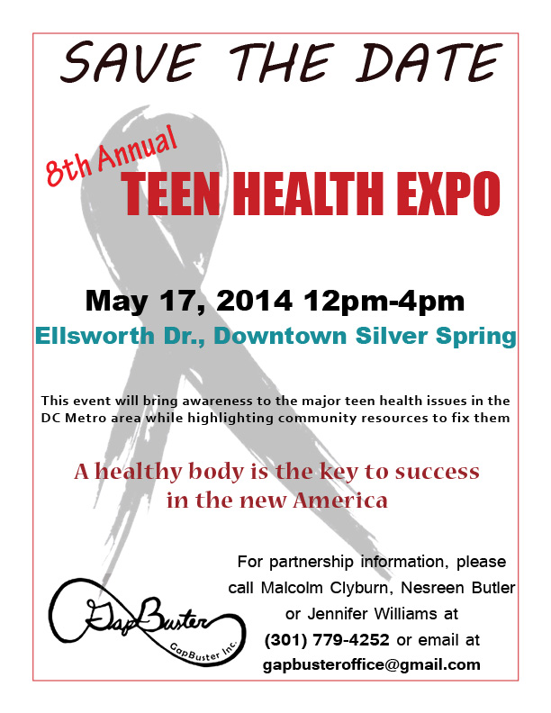Teen Health Expo save the date
